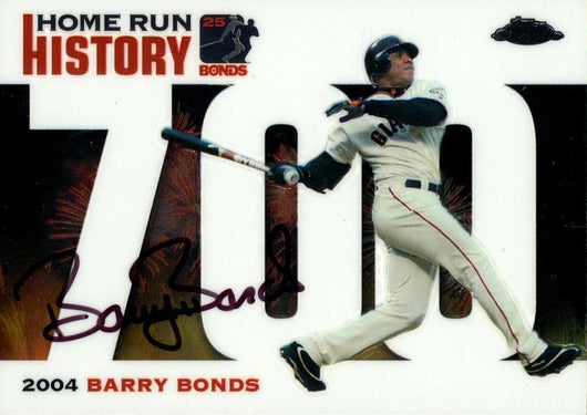 2006 Signed Topps Chrome White Refractor HR History Card  – HR 700