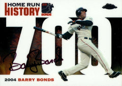 2006 Signed Topps Chrome White Refractor HR History Card  – HR 700 | Barry Bonds