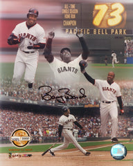 Signed 73 HR Photo – Collage (Not Framed) | Barry Bonds