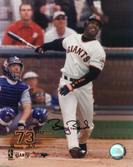 Signed  73 HR Photo – Swing (Not Framed) | Barry Bonds