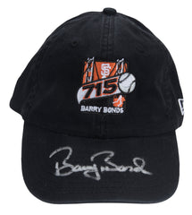 Barry Bonds Signed 715 Home Run Logo Hat | Barry Bonds