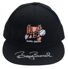Barry Bonds Signed Fitted 715 Home Run Logo Hat | Barry Bonds