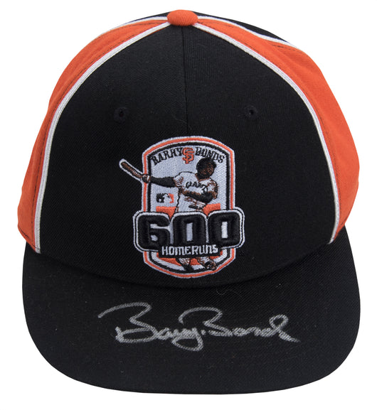 Barry Bonds Signed 600 Home Run Commemorative Hat