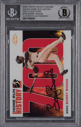 Barry Bonds Signed 2005 Topps Chrome Chasing HR History Red X  Refractor #700 Beckett Encapsulated