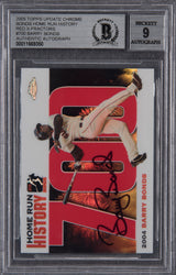 Barry Bonds Signed 2005 Topps Chrome Chasing HR History Red X Refractor #700 Beckett Encapsulated Mint 9