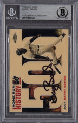 Barry Bonds Signed 2005 Topps Chrome Chasing HR History #500- Beckett Encapsulated | Barry Bonds