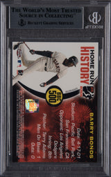 Barry Bonds Signed 2005 Topps Chrome Chasing HR History #500- Beckett Encapsulated