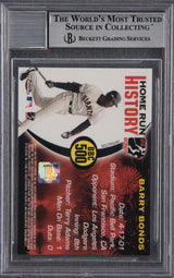 Barry Bonds Signed 2005 Topps Chrome Chasing HR History Red X Refractor #500 - Beckett Encapsulated Mint 9