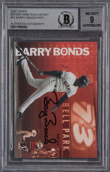 Barry Bonds Signed 2005 Topps HR History #73 -  Beckett Encapsulated Mint 9
