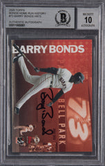Barry Bonds Signed 2005 Topps Home Run History #73- Beckett Encapsulated Perfect 10 | Barry Bonds