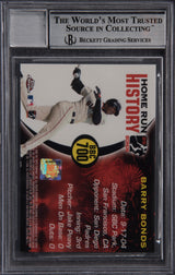 Barry Bonds Signed 2005 Topps Chrome Chasing HR History  #700 - Beckett Encapsulated Perfect 10