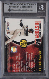 Barry Bonds Signed 2005 Topps Chrome Chasing HR History #700 -  Beckett Encapsulated