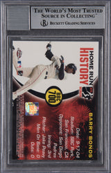 Barry Bonds Signed 2005 Topps Chrome Chasing HR History #700-  Beckett Encapsulated Mint 9