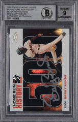 Barry Bonds Signed 2005 Topps Chrome Chasing HR History Black  Refractor #500 -- Beckett Encapsulated Mint 9 | Barry Bonds