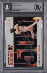 Barry Bonds Signed 2005 Topps Chrome Chasing HR History Black Refractor #500 -  Beckett Encapsulated