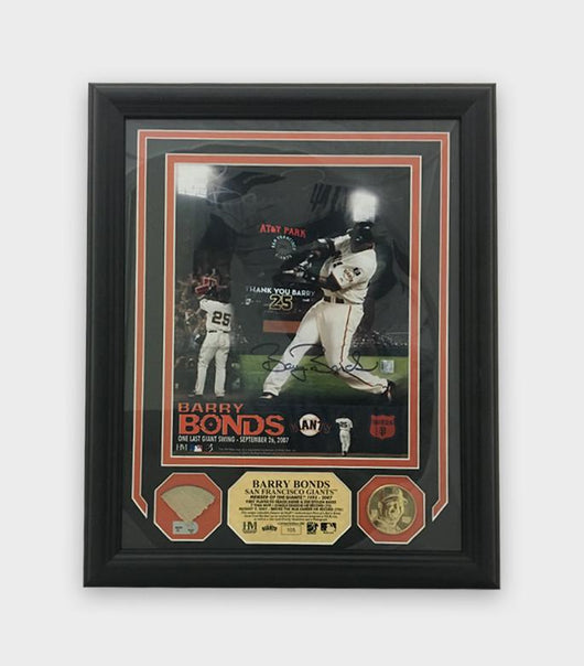 Barry Bonds One Last Swing Plaque