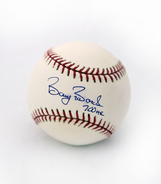 Barry Bonds Signed and Inscribed MLB Selig Baseball (700 Hr)- MLB Authenticated