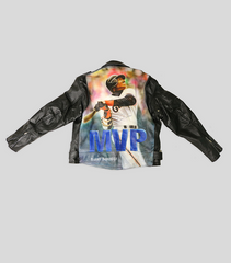 Barry Bonds Leather Motorcycle Jacket | Barry Bonds