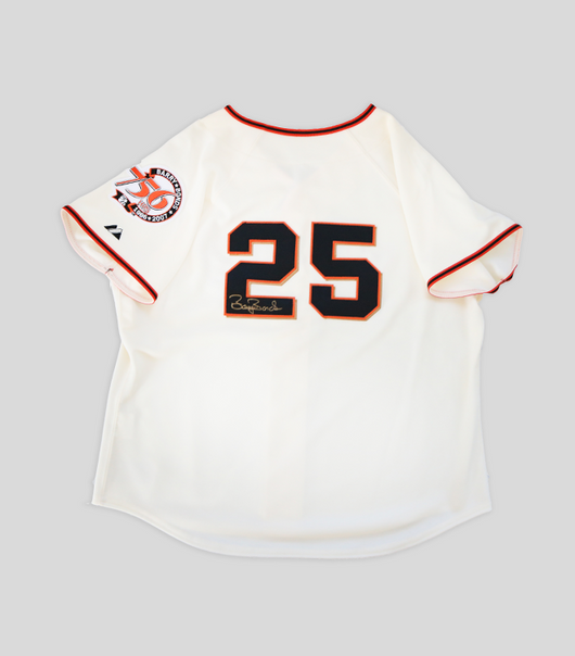 barry Bonds Signed  Giants Womens Home Jersey