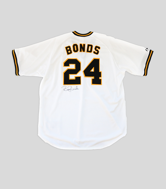 Barry Bonds Signed Pittsburgh Pirates Cooperstown Collection Home Jersey