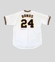 Barry Bonds Signed Pittsburgh Pirates Cooperstown Collection Home Jersey | Barry Bonds