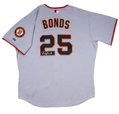 Barry Bonds Signed Game Issued 2006 San Francisco Giants Grey Road Jersey | Barry Bonds