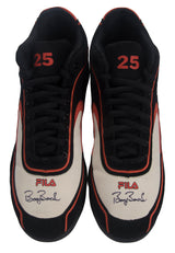 Signed Game Issued Fila Cleats – Black/Orange/White- Both Signed