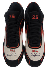 Signed Game Issued Fila Cleats – Black/Orange/White- Both Signed | Barry Bonds
