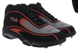 Signed Game Issued Fila Cleats Black/Orange/Grey - Both Signed