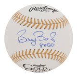 Barry Bonds Signed And Inscribed Rawlings Gold Glove Baseball