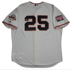 Barry Bonds Game Issue Professional Model Signed Jersey – Home – All Star Patch | Barry Bonds