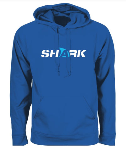 ADULT SHARK HOODIE - ROYAL BLUE