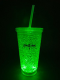 SHARK Cracked Ice Light-Up Tumbler with Straw - 16 oz