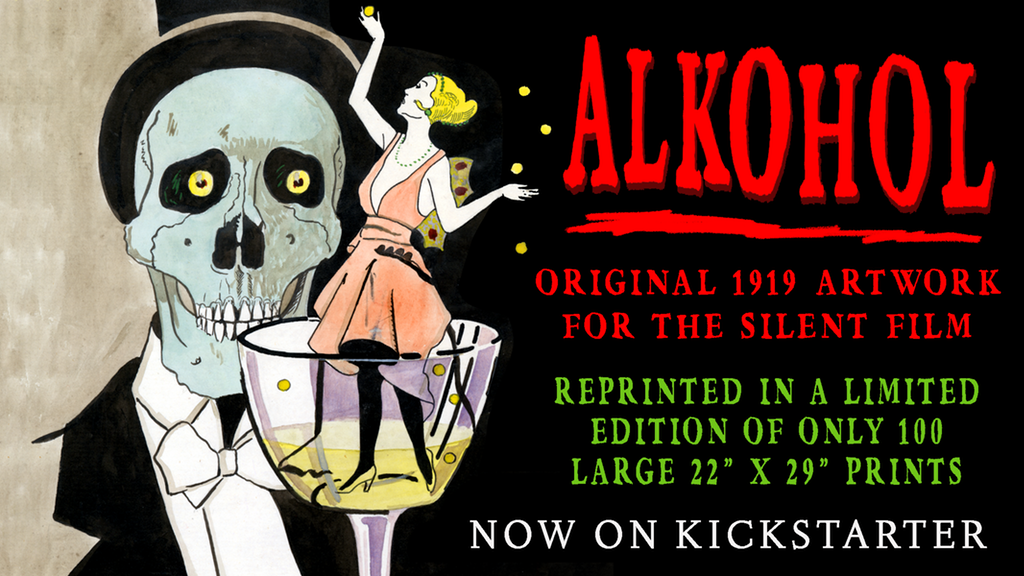 Make 100: The lost 1919 poster for the silent film ALKOHOL