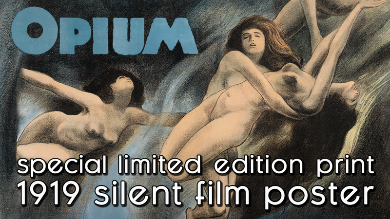 Opium Silent Film Poster 1919 Limited Edition Fine Art Print Century Guild