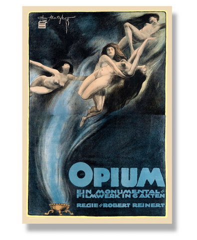 Opium 1919 Silent Film Edition Print Century Guild Museum Permanent Collection Original Posters