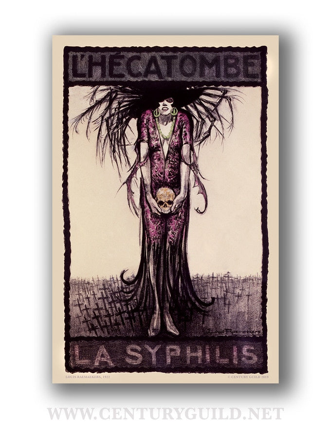 L'Hecatombe La Syphilis [1922] Limited Edition Museum Print (19.5 x 30)
