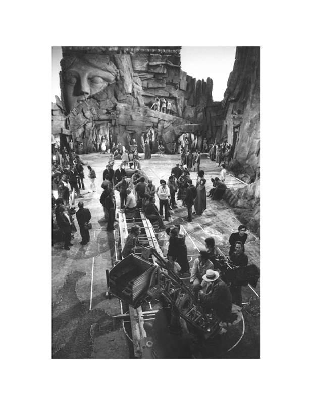 Cast and crew on the set of Caligula by Jerry Bauer | Caligula: The Mario Tursi Photos | Archival silver rag photograph