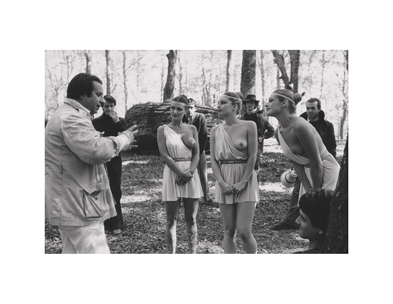 Lori Wagner, Anneka di Lorenzo, and Jane Hargrave roam the forest | Caligula: The Mario Tursi Photos | Archival silver rag photograph