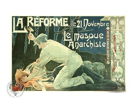 La Reforme - Le masque Anarchiste  (11x14 Patronage Print #32)