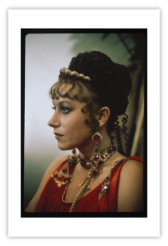 Portrait of Helen Mirren as Caesonia, Large color photograph | Caligula: The Mario Tursi Photos | Archival silver rag photograph