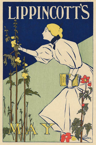 "Will Garqueville ""Lippincott's: May"" Imperial Japon Lithograph, c. 1896"