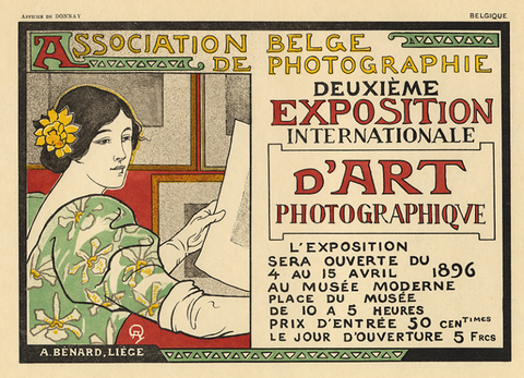 "Auguste Donnay ""Deuxieme Exposition International D'Art Photographique"" Lithograph, 1896"
