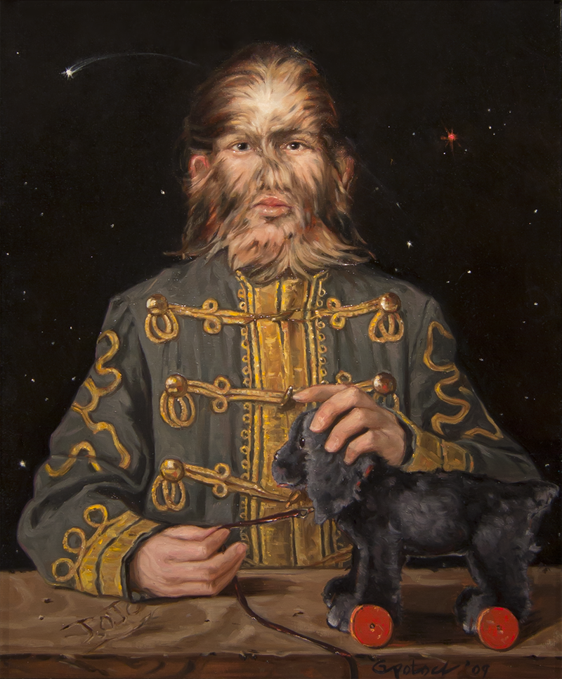 Fedor Jeftichew Jo Jo the Dog Faced Boy Gail Potocki Freaks Sideshow Royal Portrait Series Symbolist Collection Fine Art Print