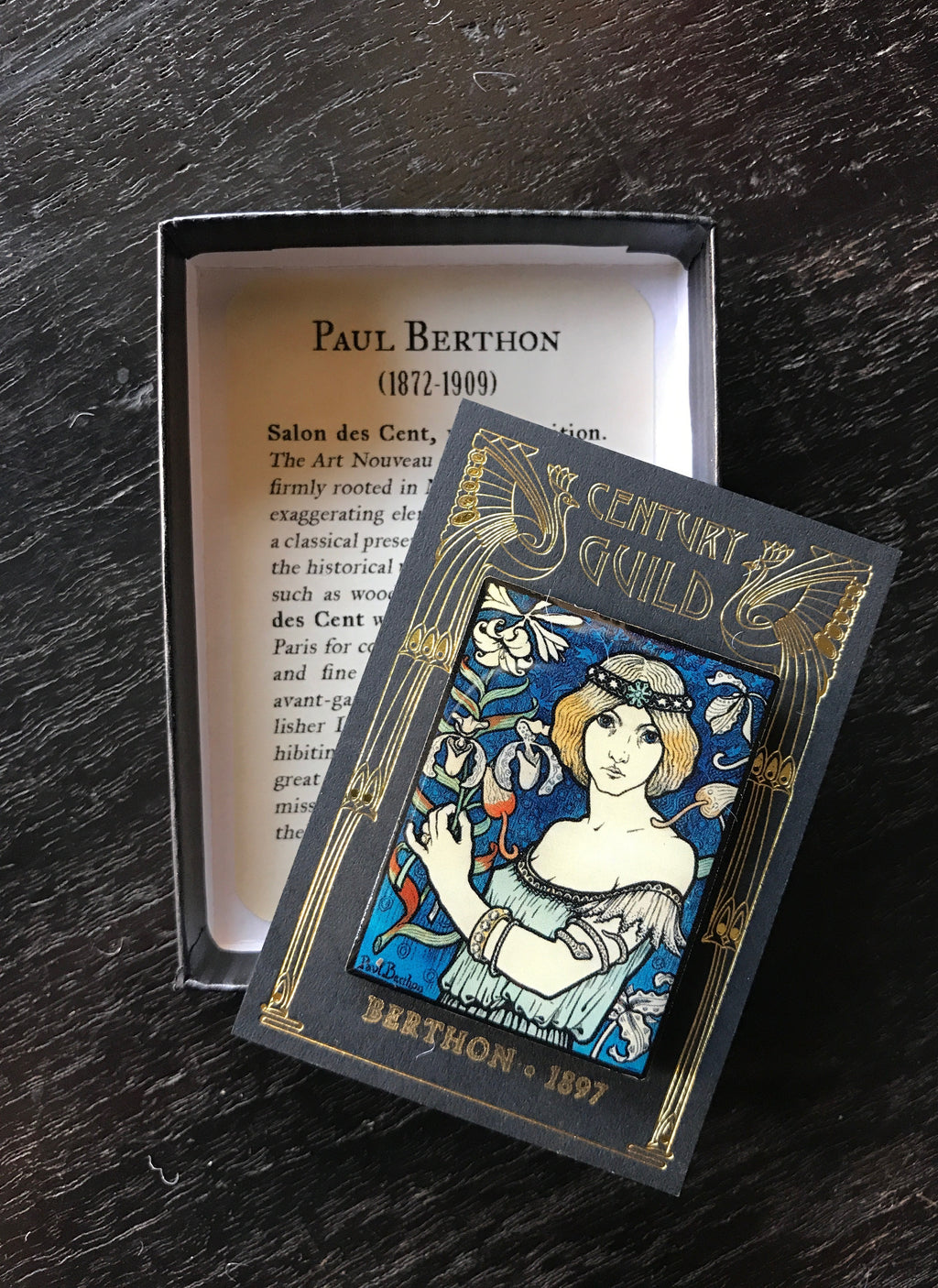Paul Berthon Salon des Cent Art Nouveau Enamel Pin Century Guild