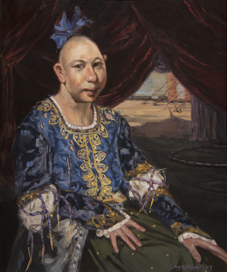 Jenny Lee Snow Pip Gail Potocki Freaks Sideshow Royal Portrait Series Symbolist Collection Fine Art Print