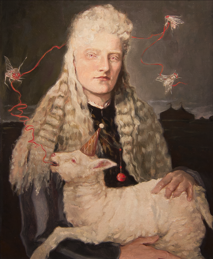 Millie La Mar The Albino Mind Reader Gail Potocki Freaks Sideshow Royal Portrait Series Symbolist Collection Fine Art Print