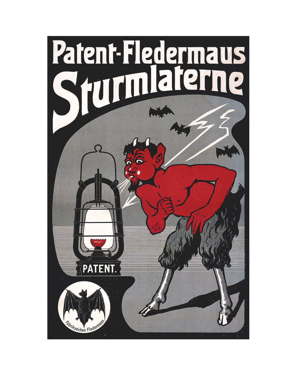 Devil Fledermaus Sturmlaterne Poster Bat