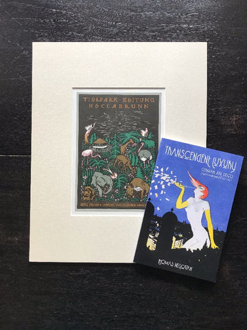 Library Gift Set: Poster Book + Original Antique German Art Deco Lithograph c. 1926