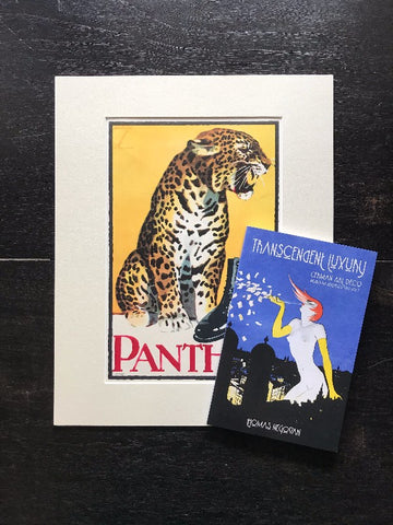 Library Gift Set: Poster Book + Original Antique German Art Deco Lithograph c. 1921